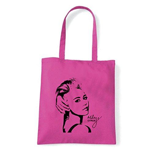 Art T-Shirt, Tasche Shoulder Miley Cyrus Fuchsia