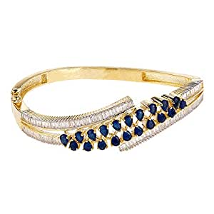 Aurora Women's Alloy Sapphire Charm Bracelet