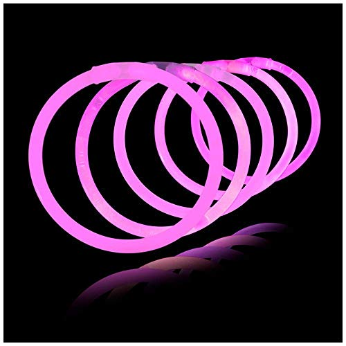 Lumistick 8 Inch 100 Pack Glow Sticks - Bendable Glow Sticks with Necklace and Bracelet Connectors - Glowstick Bundle Party Bracelets (100, -