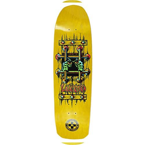 Black Label Skateboard Deck Emergency Lucero OG Bars Yellow 9.25″ x 33.25″