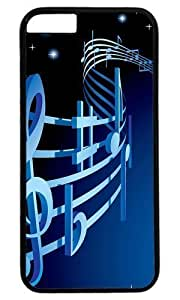 Abstract Musical Notation DIY Hard Shell Black Best Designed iphone 6 plus Case hjbrhga1544