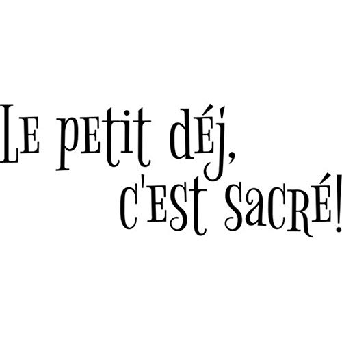 Wall Art Decal Sticker Words Wall Saying Words Removable Mural French Quote Le Petit Déjeuner Est Sacré Pour La Cuisine Du Restaurant The Breakfast is Sacred for Kitchen - Sacred French Music