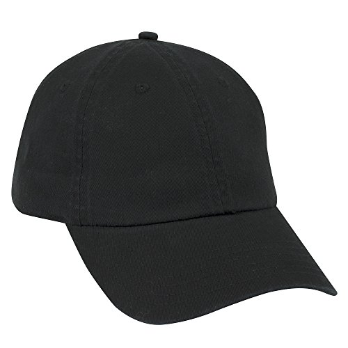- Otto Caps OTTO Garment Washed Cotton Twill 6 Panel Low Profile Dad Hat - Black