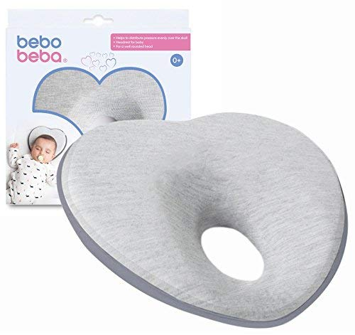 Newborn Baby Head Shaping Pillow | Memory Foam Cushion for Flat Head Syndrome...