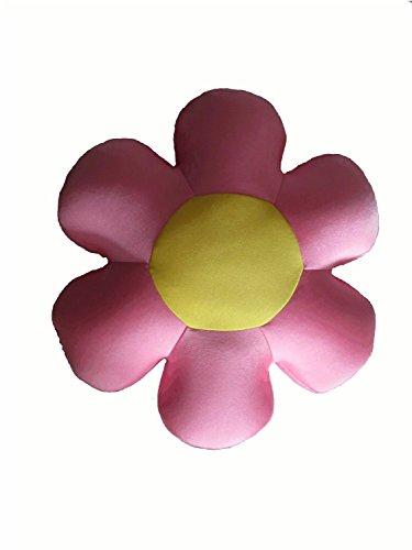 Tache Home Fashion FF06PI Flower Microbead Pillow, Pink