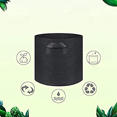 Yinrunx Grow Bags Environmental Protection Growing-Containers Nonwoven Fabric Pots Plant Grow Bags with Handle : Garden & Outdoor