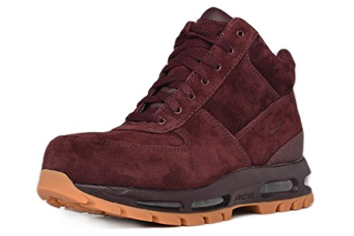 Nike Mens ACG Air Max Goadome Leather Boots Deep Burgundy 599474-600 Size 9.5
