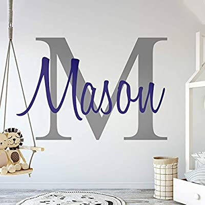 Baby Nursery Decorations | Custom Name Wall Decals | Available in Three Sizes | Ready to Use | Fully Customizable with Name, Color, Design and Size | Non-Toxic | Easy to Apply Baby Nursery Wall Decal