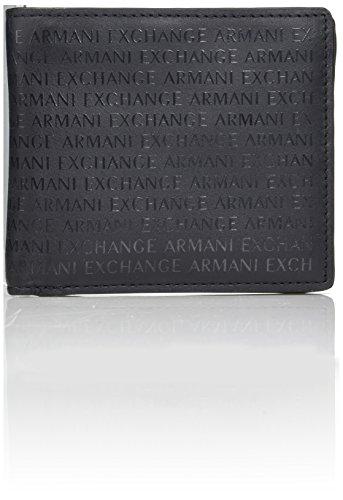 Armani Nero Men's Fold Laser Wallet All Over Exchange Logo Bi 1rfqz1wx