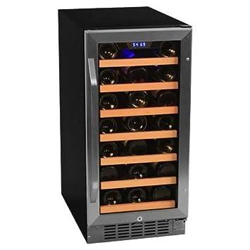 edgestar cwr301sz 15 inch wide 30 bottle builtin wine cooler stainless steel - Built In Wine Fridge
