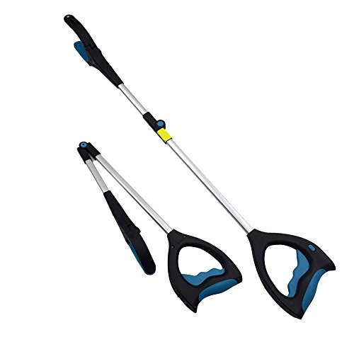 """Reacher Grabber -Vylymuses 33"""" Extra Long Handy Mobility Aid - Reaching Assist Tool for Trash Pick Up, Litter Picker, Garden Nabber, Disabled, Arm Extension"""