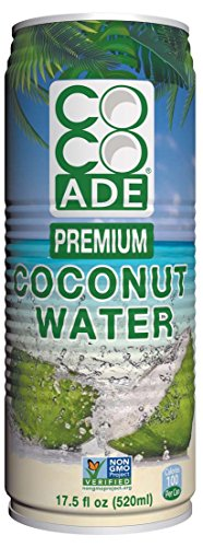 Cocoade Premium Pulp Free Coconut Water, 17.5 Fluid Ounce (Pack of 12)