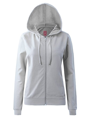 Regna X Womens Long Cotton Knitted Tunic Full Zip Hooded Sweatshirt Grey 3XL