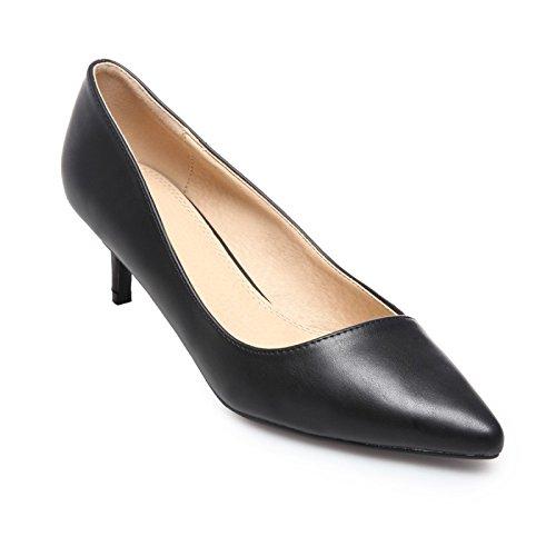 sintética Negro piel puntiagudos nbsp;Zapatos negro de Modeuse tacón La pqYf4Oww