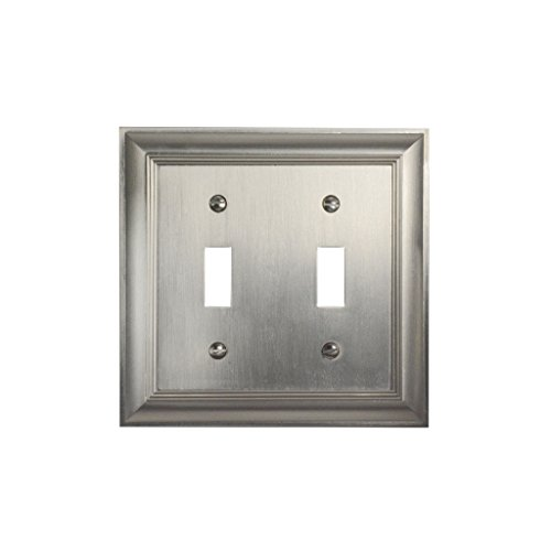 CKP Brand #31193 Double Switch Wall Plate, Brushed - Chrome Double Toggle
