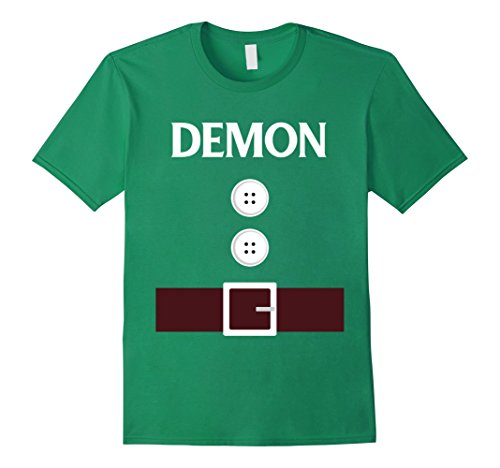 Mens Demon Dwarf Costume Funny Cute Halloween Tshirt Small Kelly (Green Demon Costume)
