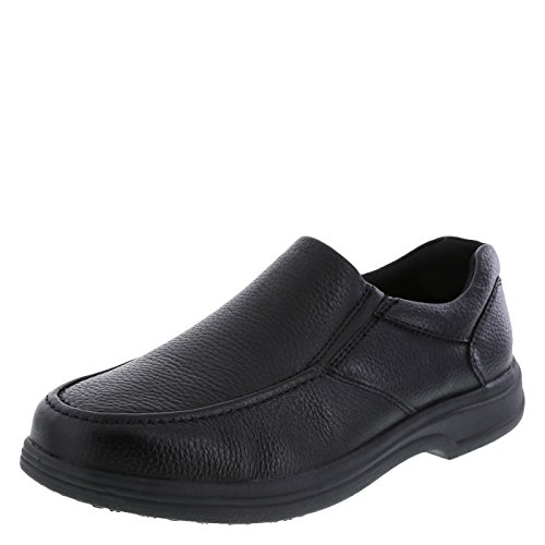 safeTstep Black Men's Slip Resistant Comfort Moc Slip-On 14 Regular