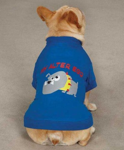 Casual Canine ZM3438 14 19 Alter Ego Tee for Dogs, Small/Medium, Blue by Casual Canine (Image #2)