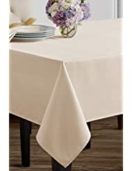 """Benson Mills Beauvalle Extra Wide Spillproof Tablecloth (68"""" X 120"""" Rectangular, Ivory)"""
