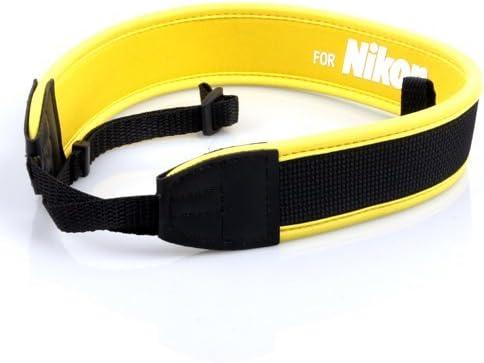 Amarillo correa de cámara de hombro cuello antideslizante Cinturón ...