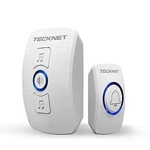 Wireless Doorbell Tecknet Wall Plug In Cordless Door