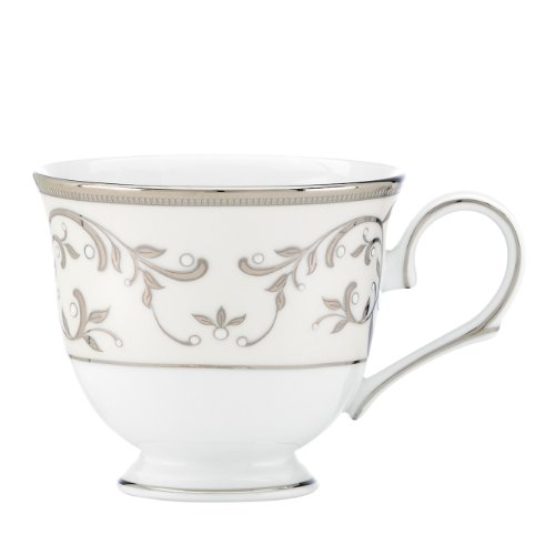 Pearl Platinum Cup (Lenox Opal Innocence Silver Footed Tea Cup)