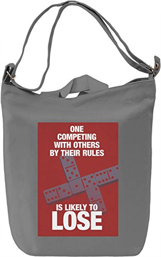Play by the rules Borsa Giornaliera Canvas Canvas Day Bag| 100% Premium Cotton Canvas| DTG Printing|
