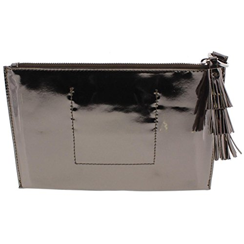 Clutch Womens Handbag Leather Faux Silver INC Wristlet wxIBTvqvp