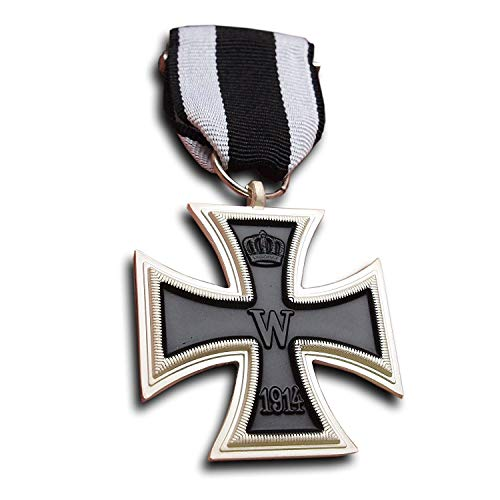 German WW1 Iron Cross 2nd Class 1914 with ribbon - Military Medal for Bravery - Imperial Prussian ()