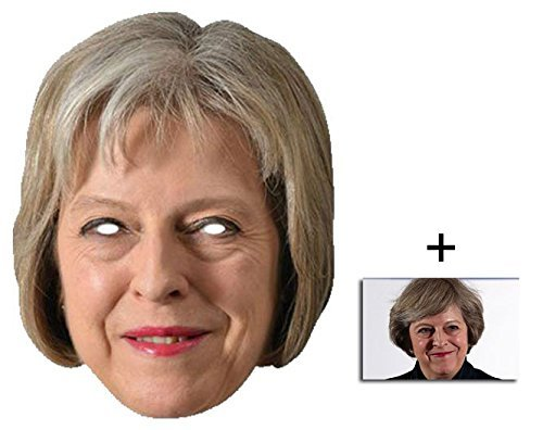 Mask Pack - Theresa May British Prime Minister 2D Card Party Face Mask - includes 6x4 inch (15cm x 10cm) Star Photo by BundleZ-4-FanZ Fan Packs