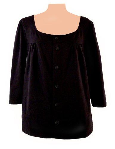 Post-op Top Dianne Long Sleeve Shirt (Medium, Black)