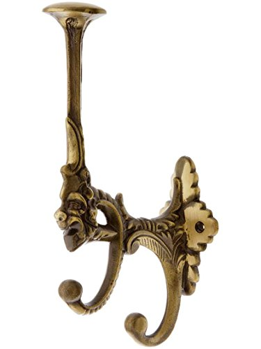 Brass Figural - Figural Brass Coat & Hat Hook in Antique-by-Hand