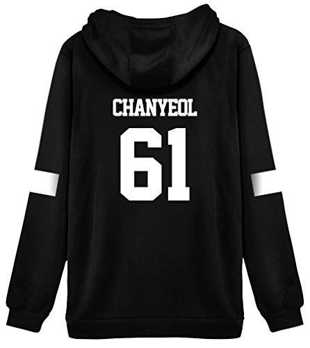 Pink Peri Kpop EXO Hoodie Sweater Chanyeol Sehun Kai Jacket Pullover