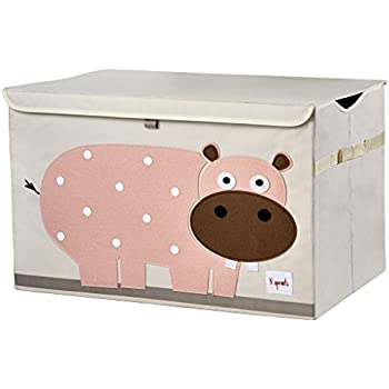 Amazon.com: 3 Sprouts Toy Chest, Hippo, Pink: Baby