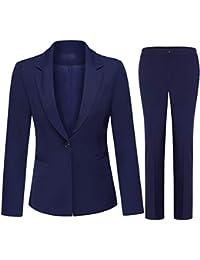 Women's 2 Piece Office Lady Business Suit Set Slim Fit Blazer Pant