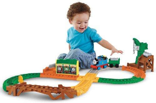 Motorized Thomas & Cargo Car Train - Shake Shake Bridge Thomas