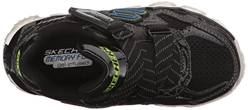 Skechers Kids Skech Air Z-Strap Light Up Sneaker (Toddler/Little Kid) Black
