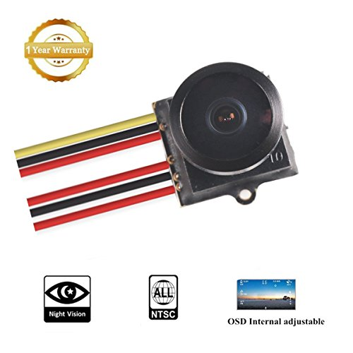 Support Integrated (FXT T80 FPV Camera 1/3 CMOS 800tvl 16:9 4:3 Switchable Day and Night Mode switchable Support D-WDR Integrated OSD NTSC for FPV Drone Multicopter by Crazepony-FPV)