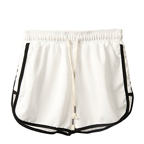 Clearance Sale!FarJing Women Fashion Summer Sport Shorts Beach Short Pants(S,White) ()