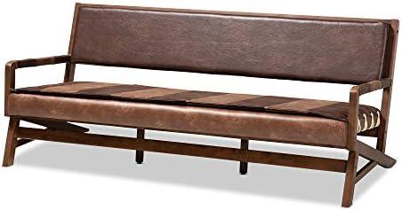 Baxton Studio Sofas, Brown Walnut