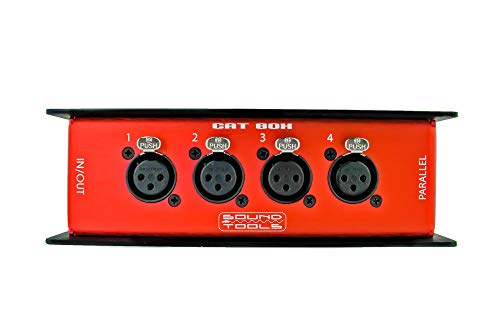 CAT Box FX - Female XLR Stage Box with Audio Over Shielded CAT Cable. Send 4 Channels of Audio, DMX, Clear-Com or AES.