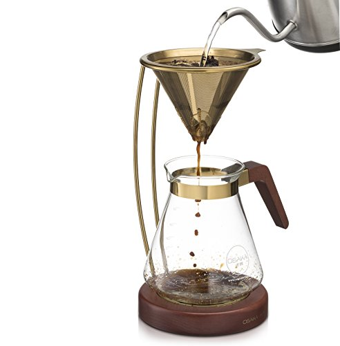 Pour Over Coffee Maker Tips : From USA Osaka, Pour Over Coffee Brewer Large Capacity, Pourover Coffee Maker With Titanium ...