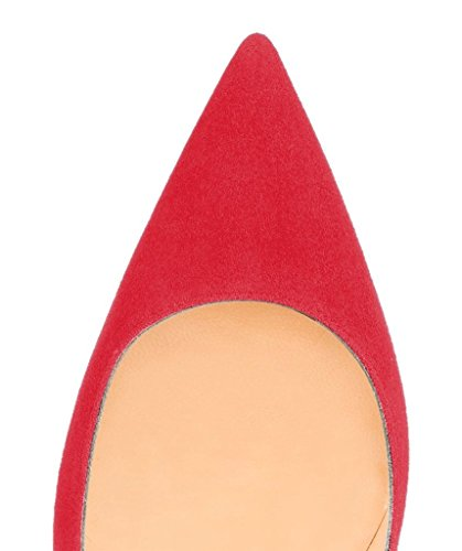 Kolnoo Rouge 37 Femme Eu Fermées Rouge Coupe TqarHT