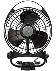 "Caframo Bora. 12V Marine Fan. Direct Wire, Low Draw, 5000 Hour Motor Life. Black. , 6.5"" x 3.0"" x 9.5"""