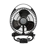 Caframo Bora 12V Marine 3 Speed Fan, Black, Small
