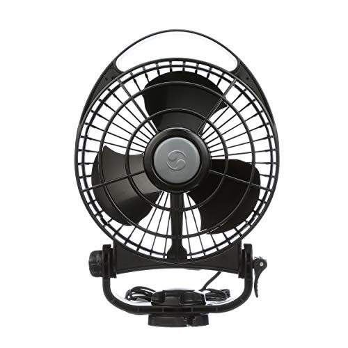 Caframo Bora. 12V Marine Fan. Direct Wire, Low Draw, 5000 Hour Motor Life. Black.