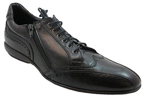 X Bacco Hombres Zapatilla De Deporte Italiana / Zapatos Negro