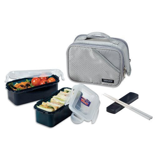 Lock&Lock Lunch Box, 2 – Pieces, Gray
