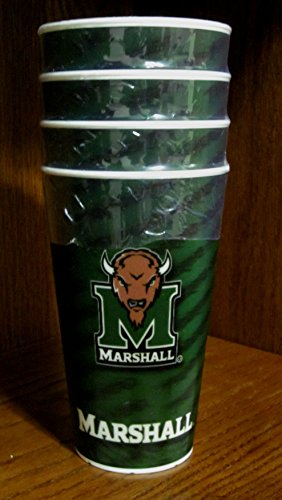 Set of Four NEW Marshall University Spirit Cups (MU) (Plastic) (Spirit Cups compare prices)