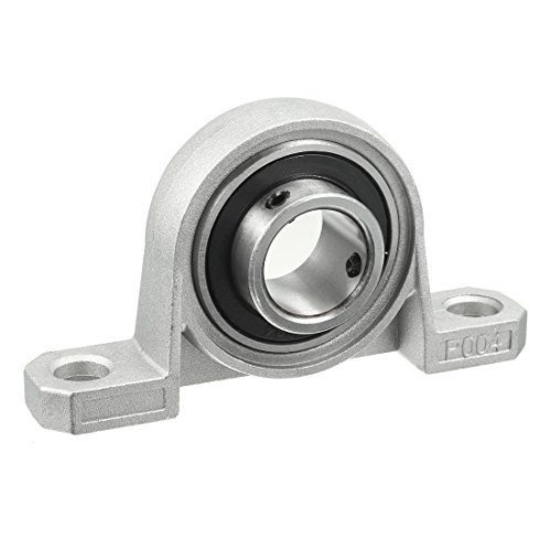 (uxcell KP004 20mm Bore Zinc Alloy Inner Ball Mounted Pillow Block Insert Bearing)
